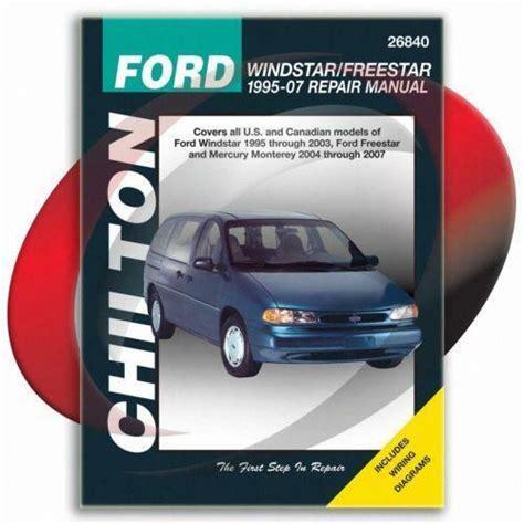 car repair manual download 1996 ford windstar electronic throttle control ford windstar repair manual ebay