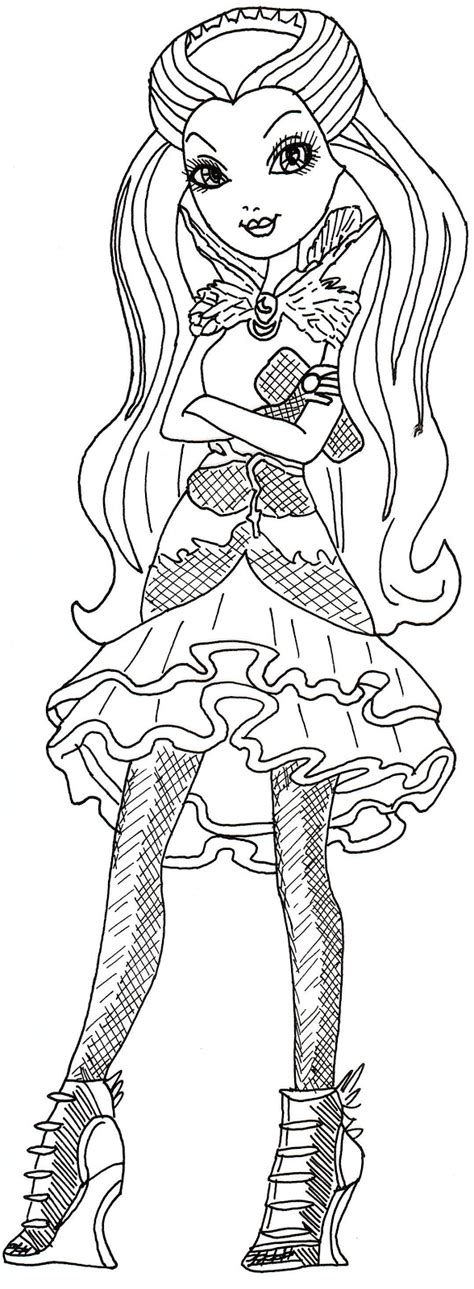 coloring pages ever after high raven queen all about ever after high dolls raven queen coloring page