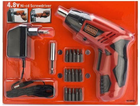 Black Decker 4 8v Screwdriver black decker 4 8v ni cd standard screwdriver set price