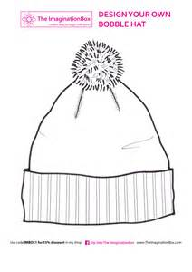 winter hat template free printables colouring craft ideas