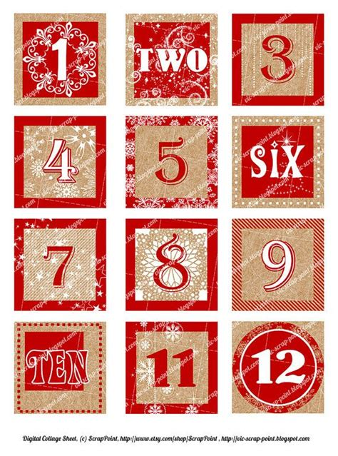printable numbers 1 50 christmas printable december daily numbers red 1 1 5 or 2 inch