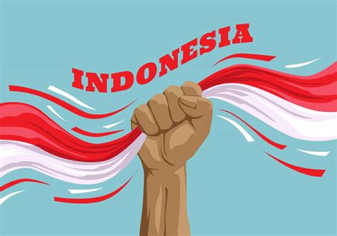 indonesia pride vector illustration