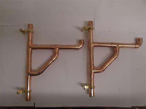 Copper Shelf Brackets by Pair Of Handmade Industrial Style Copper Pipe Shelf Brackets