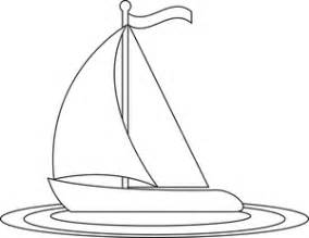 Sailboat Outline by Free Sailboat Clip Image Sailboat Coloring Page Outline