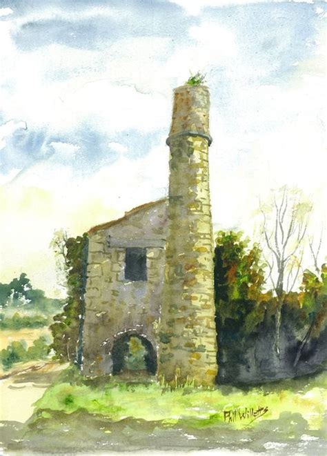 Dining Room Art Prints by Cornish Tin Mine Engine House Phil Willetts Paintings