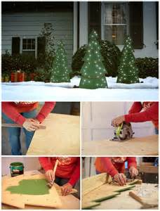 customize outdoor decor with these diy christmas trees