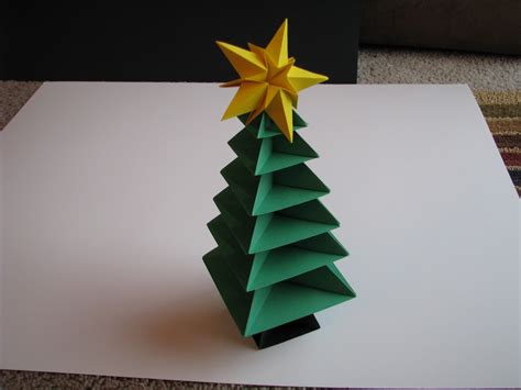 origami xmas decorations lets make origami tree 2