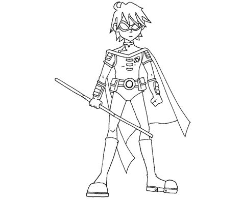 teen titans robin face coloring coloring pages