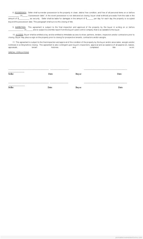 Subject To Contract Letter Sle Free Sales Contract For Buying Subject To Form Printable Real Estate Forms