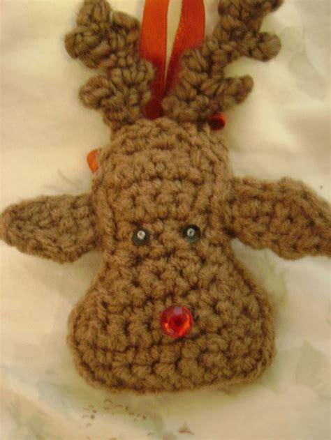 pintrest crochet christmas reindeer ornament crochet my craft projects