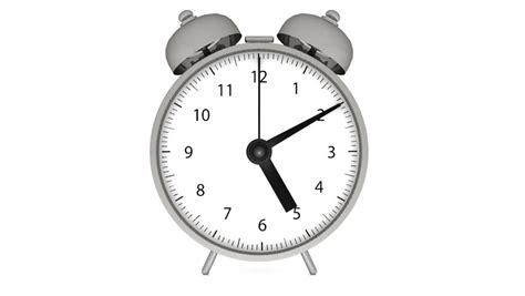 alarm clock animation with alpha channel stock footage 3891836