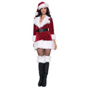 sexy santa outfit mrs claus costume adult christmas fancy