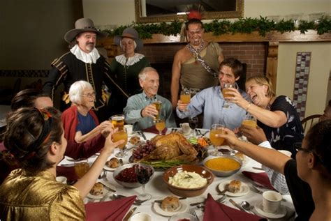 Rockwell Table And Stage Thanksgiving History Plimoth Plantation