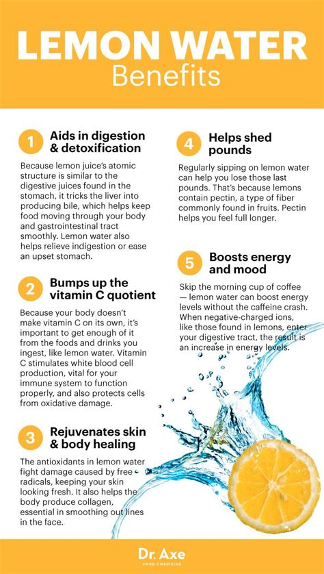 Lemon Water Daily Detox by Benefits Of Lemon Water Explained