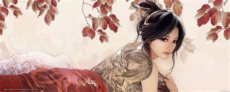 oriental tattoo wallpaper download wallpaper asian tattoo dragon free desktop