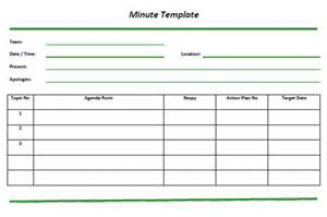 How To Type Minutes From A Meeting Template by Minutes