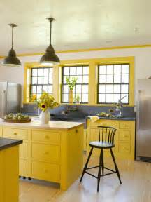 Yellow Kitchen House 10 Colorful Kitchens Town Country Living