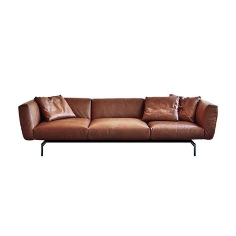 sofa knoll avio three seater leather sofa thesofa