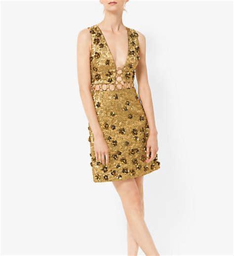 Brocade Flower Dress Mini Dress michael kors collection floral metallic embroidered brocade dress pradux