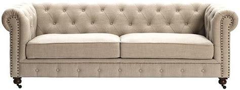 restoration hardware tufted linen sofa copy cat chic restoration hardware kensington upholstered