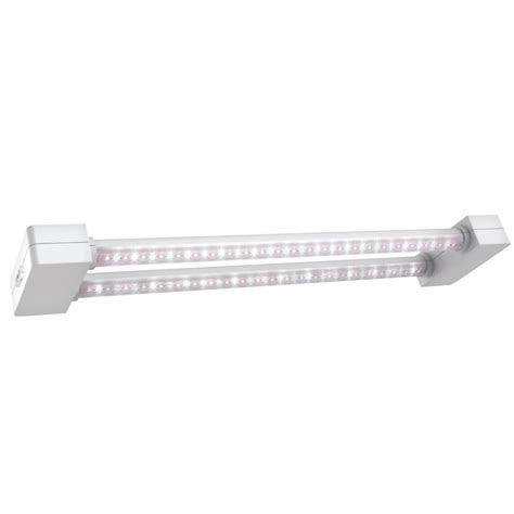 2 foot led light commercial electric 42 in brushed nickel bright cool