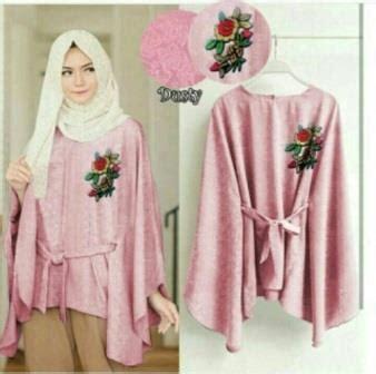 baju muslim wanita bm6948 supplier baju atasan wanita muslim bahan jacquard