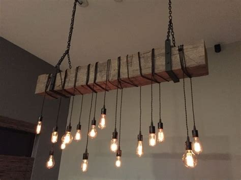 Reclaimed Chandeliers Alluring Buy A Custom Made Reclaimed Barn Beam Chandelier Light Fixture Barn Pendant Light