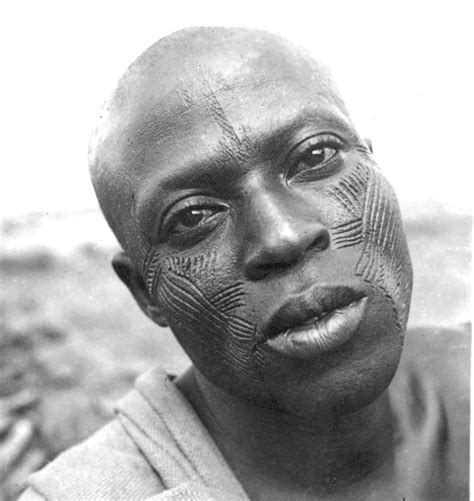 file african scarification in the early 1940s jpg