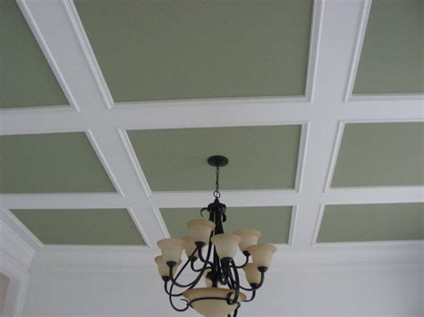 Simple Coffered Ceiling How To Do Help On Baseboards Drywall And