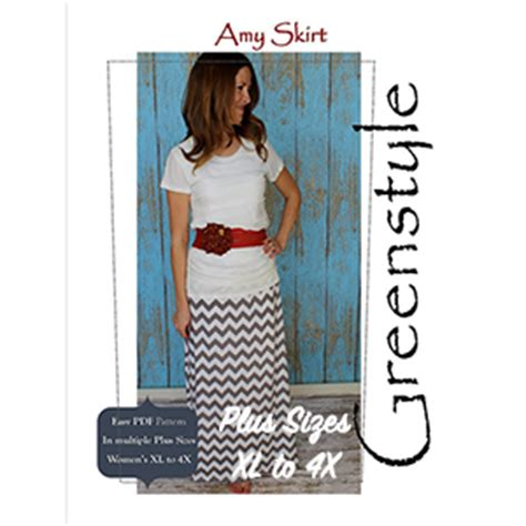 Maxi Jersey Plus Aouter Waffel greenstyle s maxi skirt extended plus sizes sewing pattern