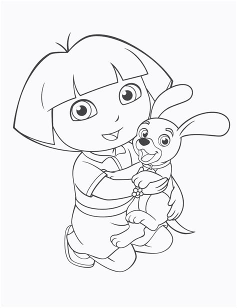 dora  explorer coloring pages coloringsuitecom