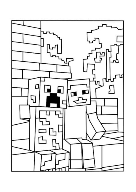 coloring pages for minecraft minecraft mobs minecraft and coloring on