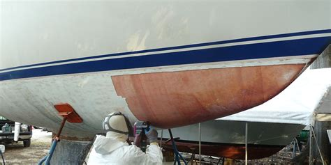 boat hull gelcoat hull blister repair in annapolis maryland annapolis gelcoat