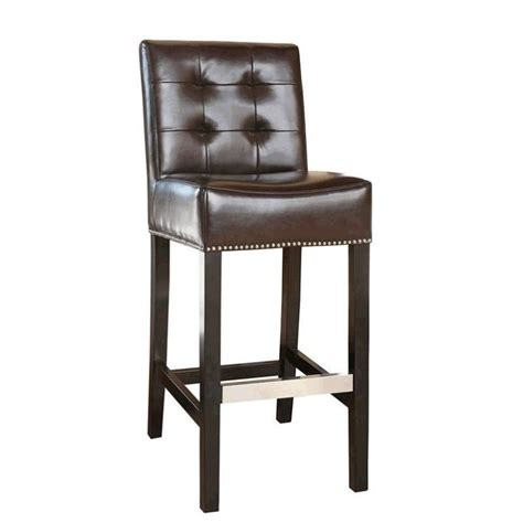30 leather bar stools abbyson living linden 30 quot leather bar stool in dark brown