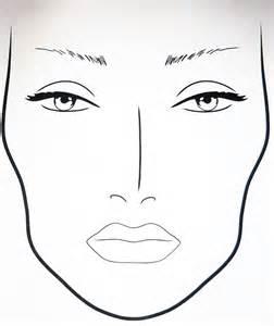 Blank Makeup Template by Blank Makeup Charts Makeup Vidalondon