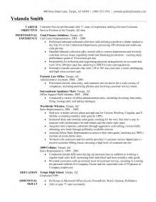 resume sles for customer service representative customer service representative resume sle