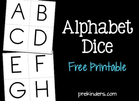 printable alphabet dice alphabet dice games prekinders
