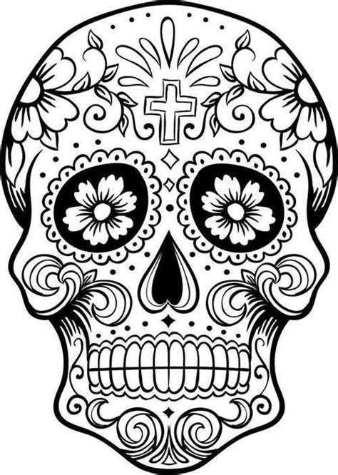 imagenes de una calavera para colorear dibujos para colorear el d 237 a de los muertos 16 manos