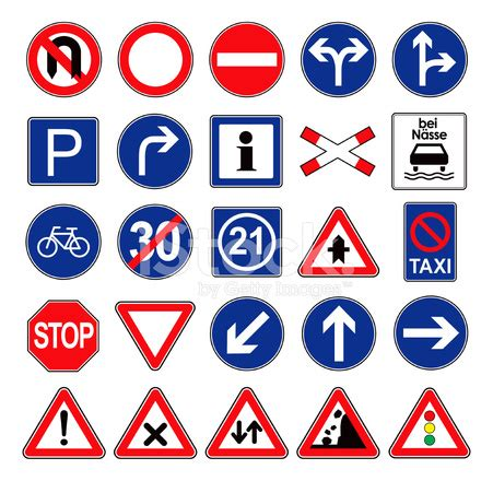 european traffic signs icon set stock vector freeimages.com