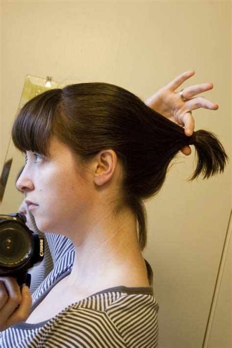 ponytail method cut hair lydia s innovations and just plain ordinary ideas how to