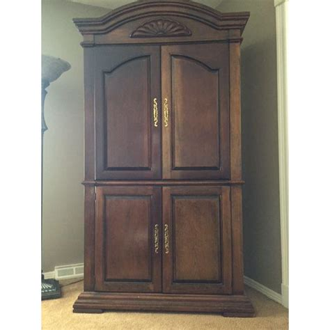 Armoire Cherry Wood by Cherry Wood Entertainment Cabinet Armoire Chairish