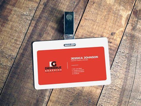 id card rope design badge psd mockups
