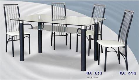 Gambar Dan Meja Makan Kaca siantano meja makan kaca persegi dt 373 4 kursi makan dc 210 cahayagemilangfurniture