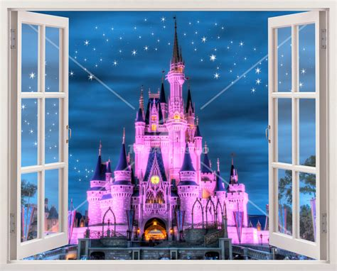 Disney Princess Castle Wall Mural ch 226 teau disney