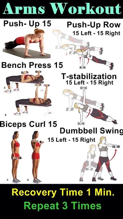 arm workouts without weights personal trainer
