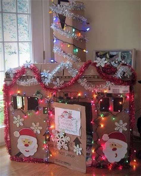 box house decorated for christmas here are a few more