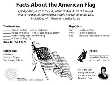 History Of The American Flag Worksheet