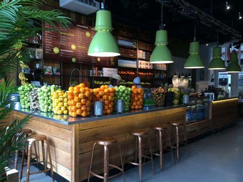 beautiful interior designs  fruit juice shop