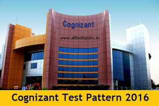 Mba Hr In Cognizant by Cognizant Test Pattern 2016 And Syllabus