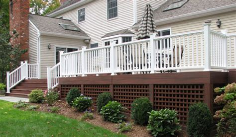 Pool Handrail Installation Deck Lattice Pictures